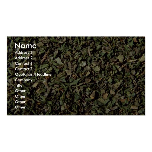 Fine herbs Double-Sided standard business cards (Pack of 100)