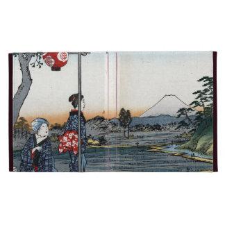 Fine Japanese art Fujimi Teahouse iPad Folio Case