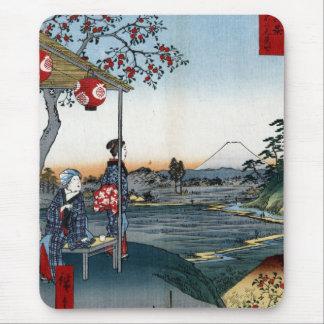 Fine Japanese art Fujimi Teahouse Mouse Pads