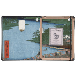 Fine Japanese art Senju wooden bridge iPad Covers