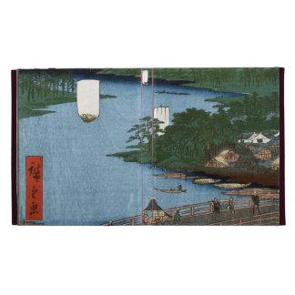 Fine Japanese art Senju wooden bridge iPad Folio Cases