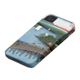 Fine Japanese art Senju wooden bridge iPhone 4 Case