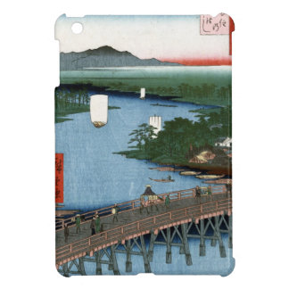 Fine Japanese art Senju wooden bridge Cover For The iPad Mini