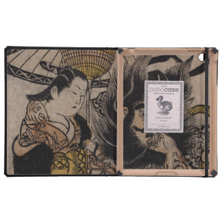 Fine Japanese art shoki courtesan umbrella iPad Covers
