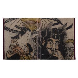 Fine Japanese art shoki courtesan umbrella iPad Folio Covers