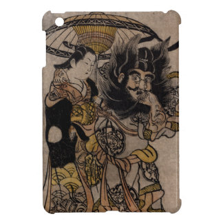Fine Japanese art shoki courtesan umbrella Case For The iPad Mini
