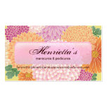 Fine Japanese Cute Cool Girly Retro Floral Double-Sided Standard Business Cards (Pack Of 100)