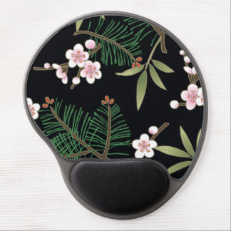 Fine Japanese Cute Cool Girly Retro Floral Gel Mouse Pad