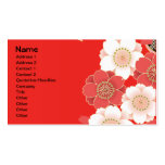 Fine Japanese Cute Cool Girly Retro Vector Double-Sided Standard Business Cards (Pack Of 100)