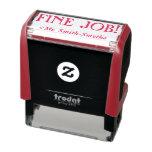 "[ Thumbnail: ""Fine Job!"" + Teacher Name Rubber Stamp ]"