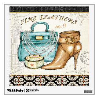 Fine Leather Bag and Shoe Wall Sticker