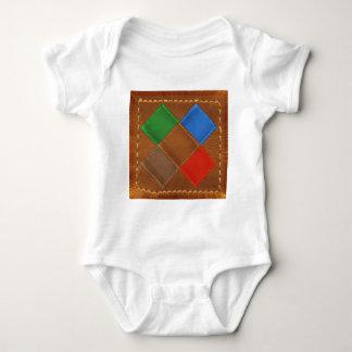 Fine Leather Craft Print Baby Bodysuit