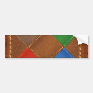 Fine Leather Craft Print Bumper Sticker
