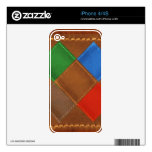 Fine Leather Craft Print Decal For iPhone 4S