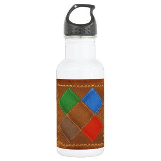 Fine Leather Craft Print 18oz Water Bottle