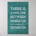 Fine Line - Math Poster