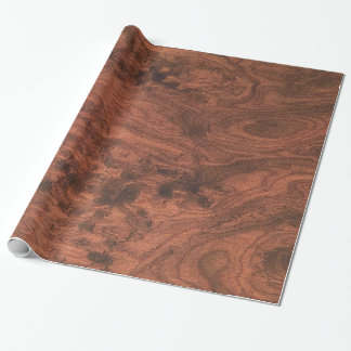 Fine Mahogany Veneer Print Wrapping Paper