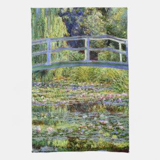 Fine Monet Japanese Bridge & Water-Lily Pond Hand Towel