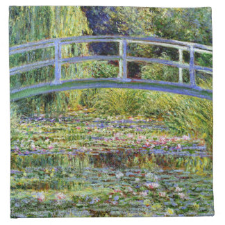 Fine Monet Japanese Bridge & Water-Lily Pond Napkin