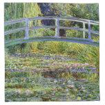 Fine Monet Japanese Bridge & Water-Lily Pond Printed Napkins