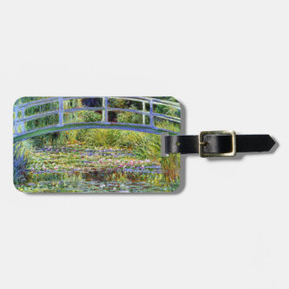 Fine Monet Japanese Bridge & Water-Lily Pond Tag For Luggage
