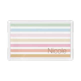 fine pastel colors rectangle serving trays