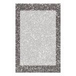 Fine Silver Glitter Texture Print Stationery Design