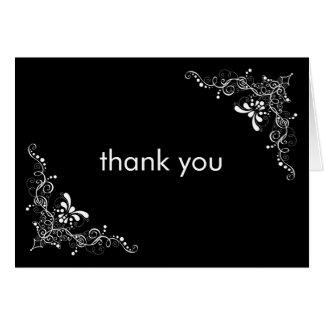 Fine Swirls Thank You Card