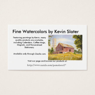 Fine Watercolors by Kevin Slater, Business Card