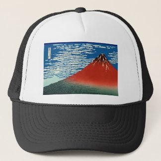 """Fine Wind ""of Katsushika Hokusai"" and Clear Trucker Hat"