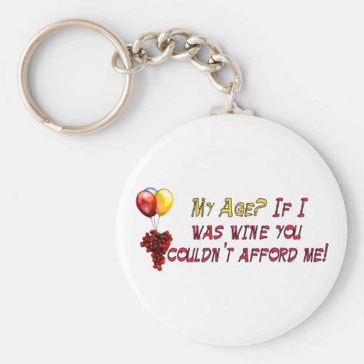 Fine Wine Basic Round Button Keychain