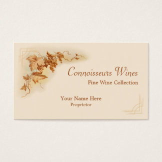 Fine wine business card