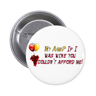 Fine Wine Pinback Buttons