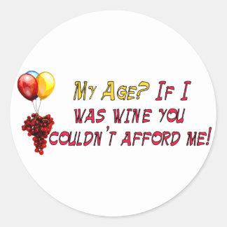 Fine Wine Classic Round Sticker