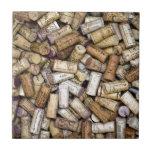 Fine Wine Corks Ceramic Tiles