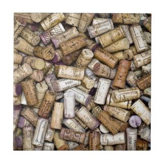 Fine Wine Corks Tile