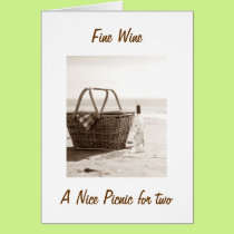 """FINE WINE/PICNIC FOR TWO HELPS YOU TURN """"50"""" CARD"""