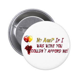 Fine Wine Pinback Buttons