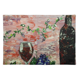 Fine Wine Pink Abstract Place Mat