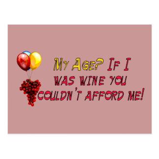 Fine Wine Postcard