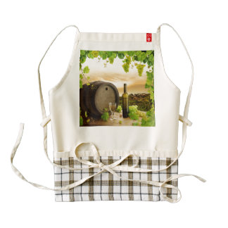 Fine Wine Zazzle HEART Apron