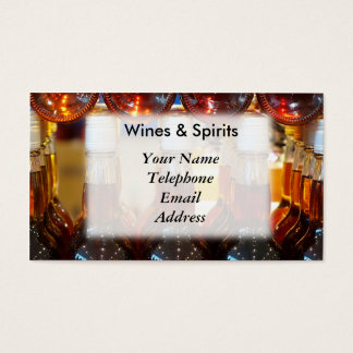 Fine Wines and Spirits Store Business Card