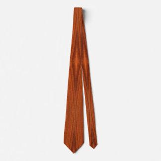 Fine Wood Grain Teak Mahogany Veneer Tie