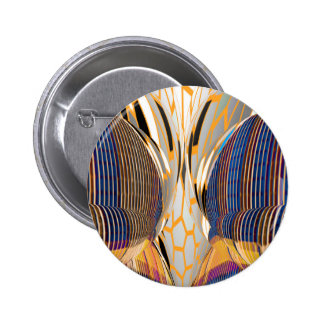 FineArt Abstract Blue Graphics Pinback Button