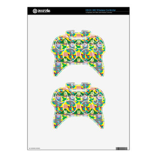 Fineart Abstract Flower Design print on gifts Xbox 360 Controller Decal