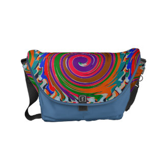FineArt Abstract Waves Patterns Stripes Messenger Small Messenger Bag