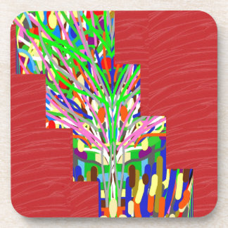 FINEART and SILKY Red Base DIVA GIFTS lowprices Coaster