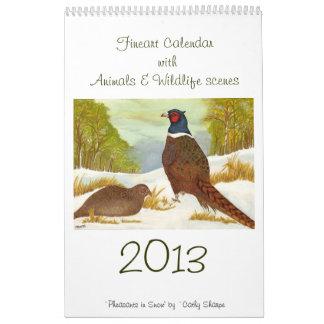 Fineart Calendar with Animals & Wildlife scenes