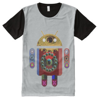 FineArt Graphics android war future machine robot All-Over Print T-shirt