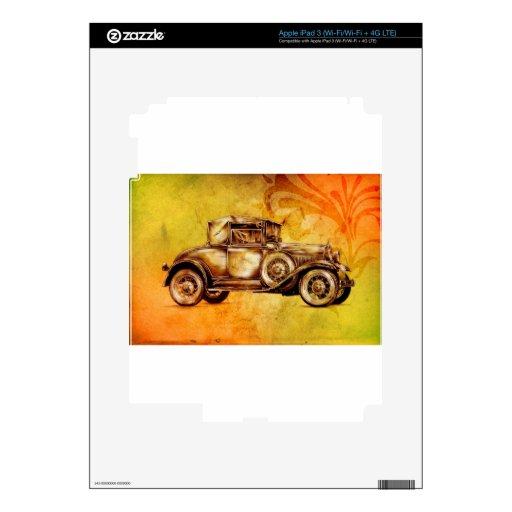 Fineart retro F051 del automóvil del vintage iPad 3 Pegatinas Skins